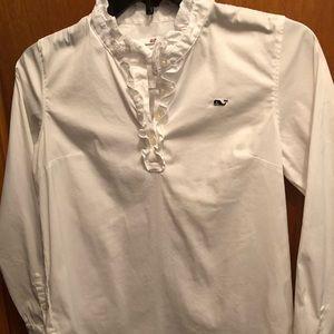 Vineyard Vines Girls Uniform Blouse Shirt 14